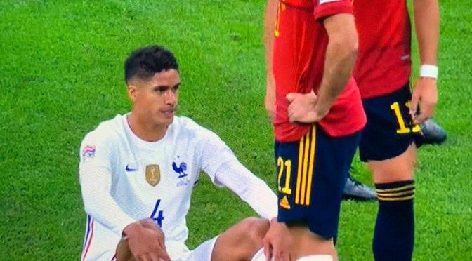 Manchester United fans panic as Raphael Varane injured for France
